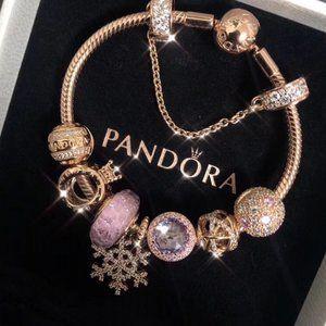 🐯Pandora Jewelry 'Crown And Snowflakes' Bracelet